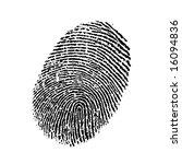 fingerprint | Shutterstock . vector #16094836