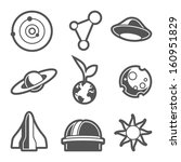 space astronomical icons  ... | Shutterstock .eps vector #160951829