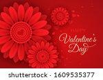 horizontal valentine's day...   Shutterstock .eps vector #1609535377
