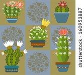 cactus pattern | Shutterstock .eps vector #160953887
