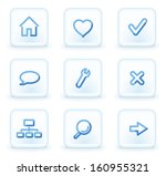 basic web icons  square ice... | Shutterstock .eps vector #160955321