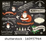 christmas design elements and... | Shutterstock .eps vector #160957964