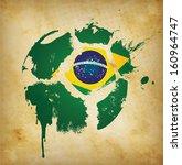 brazil football template   ... | Shutterstock . vector #160964747