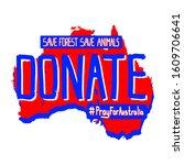 donate on a map of australia.... | Shutterstock .eps vector #1609706641
