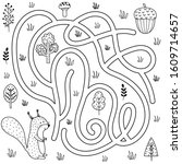 Black And White Labyrinth Game...