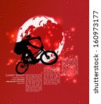 vector of bmx cyclist | Shutterstock .eps vector #160973177