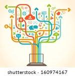 social network tree | Shutterstock .eps vector #160974167