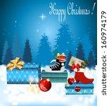 christmas gift boxes  | Shutterstock .eps vector #160974179