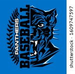 panthers baseball team design...   Shutterstock .eps vector #1609747597