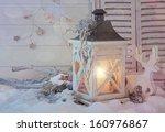 Burning Lantern And Christmas...