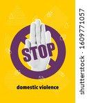 domestic violence pop art...   Shutterstock .eps vector #1609771057