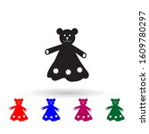 toy bear in dress multi color...