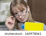 cute young attractive student... | Shutterstock . vector #160978061
