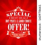 best deal  special offer design ... | Shutterstock .eps vector #160978661
