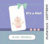 raster baby shower card  for... | Shutterstock . vector #160978844