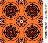ethnic pattern in bright color... | Shutterstock .eps vector #160980449