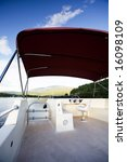 a luxury house boat on a... | Shutterstock . vector #16098109