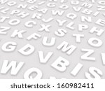letters of the english alphabet.... | Shutterstock . vector #160982411