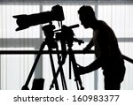 silhouette of photographer and... | Shutterstock . vector #160983377