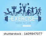 exercises conceptual design.... | Shutterstock .eps vector #1609847077