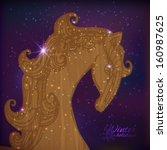 wood horse   Shutterstock .eps vector #160987625
