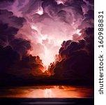 Digital Art Of Lightning Storm...