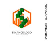 finance logo vector. accounting ... | Shutterstock .eps vector #1609900087