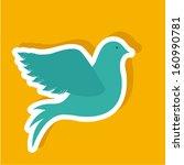 peace design over orange ... | Shutterstock .eps vector #160990781