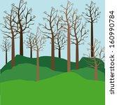 trees design over landscape... | Shutterstock .eps vector #160990784
