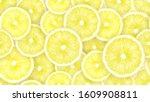 lemon fruits whole  half  slice ... | Shutterstock . vector #1609908811