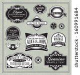 vector vintage labels frames... | Shutterstock .eps vector #160991684