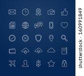 generic vector thin line symbol ... | Shutterstock .eps vector #160991849