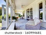 front covered porch interior.... | Shutterstock . vector #160994681