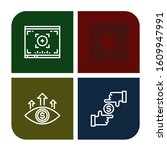 focusing icon set. collection... | Shutterstock .eps vector #1609947991