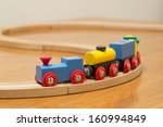 Childrens Toy Train On Track