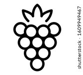 delicious berry icon. outline... | Shutterstock .eps vector #1609949467