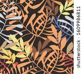 vector image of colorful leaves ... | Shutterstock .eps vector #1609986811