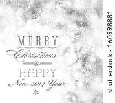 vector glittery christmas... | Shutterstock .eps vector #160998881