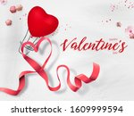 valentines day greeting card... | Shutterstock . vector #1609999594