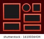 set retro lightbox billboard... | Shutterstock .eps vector #1610036434