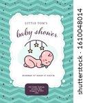 baby shower card   invitation   ...   Shutterstock .eps vector #1610048014