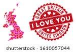 lovely collage united kingdom... | Shutterstock .eps vector #1610057044