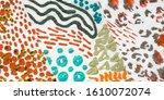 acrylic style pattern.... | Shutterstock . vector #1610072074