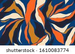 hand drawn colorful abstract... | Shutterstock .eps vector #1610083774