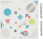 abstract geometric pattern... | Shutterstock .eps vector #1610096971