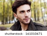 close up handsome man portrait | Shutterstock . vector #161010671