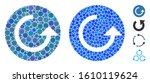 repeat mosaic of round dots in... | Shutterstock .eps vector #1610119624