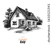 hand drawn vintage family...   Shutterstock .eps vector #1610121541