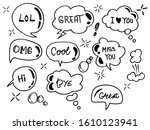 doodle vector of speech bubbles ...   Shutterstock .eps vector #1610123941