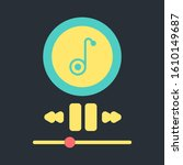 music player interface chalk...